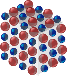 Ionic compound showing array
