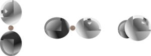 x,y,z p-orbital set